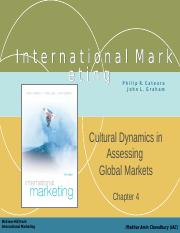 79983324-International-Marketing-Chapter-Four-Cultural-Dynamics-in-Assessing-Global-Markets.ppt
