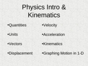 kinematics-graphing