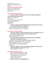FNCE 3P93 Chapter 18 PPT solutions Winter 2015 Class Notes
