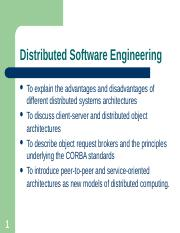 Chapter 18 - Distributed Software Engineering