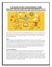 6 STEPS FOR CHOOSING THE RIGHT RESEARCH METHODOLOGY.pdf