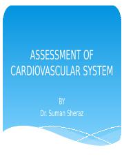 Lec 3 Assessment of cardiovascular system