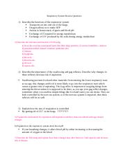 Bio 155 Respiratory FINAL EXAM review