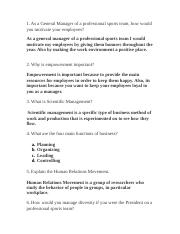 Chapter 2 Sports management