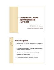 OPRE3333 Larson Ch. 1b Systems of Linear Equations and Matrices Lecture Slides