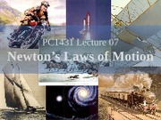 PC1431-2009-3-L07 Newton's Laws of Motion