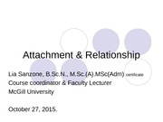 2015 223 students Attachment & Relationship