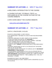 NATS 1750 Lecture Summaries