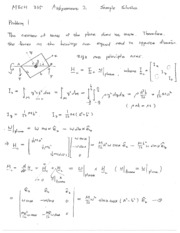 MECH 335 - Assignment 02 Solutions