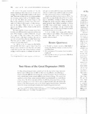 Two Views on the Great Depression