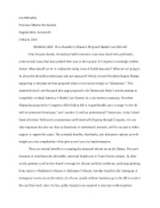 Exploratory Essay Final Draft