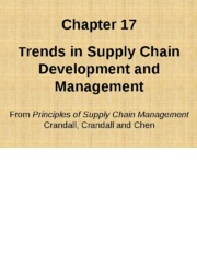 Chapter 17  Trends in SC Management PSCM2E