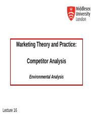 MKT1120 Lecture 16 Analyzing Competitors.ppt
