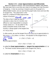 21Section 3.10-Linear Approximations and Differentials-SB(1)