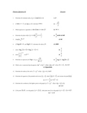 Math Practice Questions #1 with Solutions
