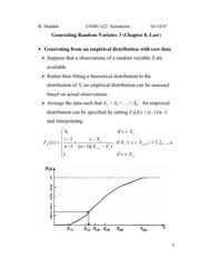 Lecture 5 on Generating Random Variates (3, Chapter 8 Law)