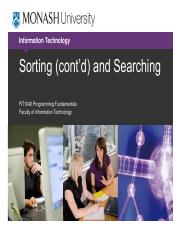 Lecture 8b Sorting (contd) and Searching.pdf