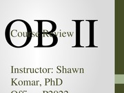 OB II S2014 - Course Review