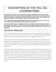 POL 201 EXAM INFORMATION FALL 2012
