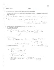 Calculus Quiz on Chapter Four