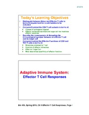 Lecture 20-Chap9_Effector_TCell_Responses_Apr15_2slides