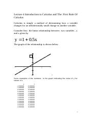Lecture 5 EC102Intro Calculus