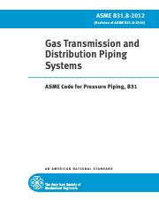 ASME B31.8-2010Gas Transmission and DistributionPiping Systems