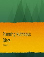 3.Planning Nutrition Diets
