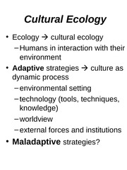 CULTURAL_ECOLOGY.ppt 1
