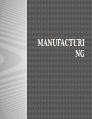 Chapter 8 Manufacturing