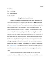 eating disorders essay eating disorder essay intro essay eating  anorexics that develop the disease at the age of or above eng pages eating disorders essay