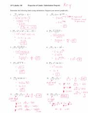 AP Calc AB - Solutions Substitution Property WS.pdf