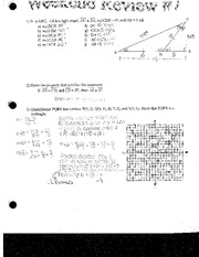 Solving Algebraic Equations and Graphing Review