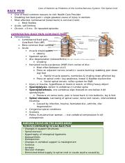 Care of Patients with Problems of the Central Nervous System- The Spinal Cord.docx