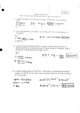 velocity test review phys 1
