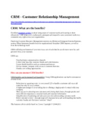 Add notes - The CRM Benefits