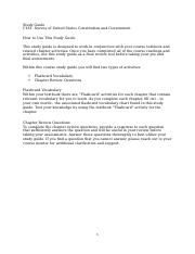 US Constitution & Government Study Guide - 2.docx