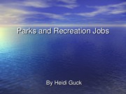 Parks and Recreation Jobs