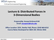 CEE101-Lecture 6-Distributed Forces