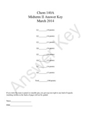 Winter 2014 Practice Midterm 2 Answer Key