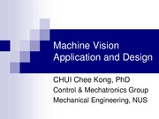 Machine Vision Application and Design