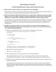 Microbiology II Tutorial 2 answer guide.pdf