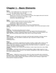 Study Guide - Chapter 1 Project 1