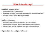 Chapter 11 Leadership