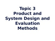 IEN557 (3) Design and Evaluation Methods