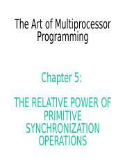 Art of Multiprocessor Programming--ch5