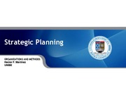 Strategic Planning Chapter 5