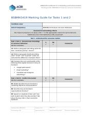 BSBMKG419 Marking Guide.docx