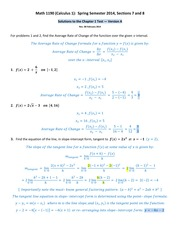 Math 1190 -- Solutions to the Chapter 1 Test -- version A