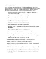 BIOL 108 WORKSHEET 6